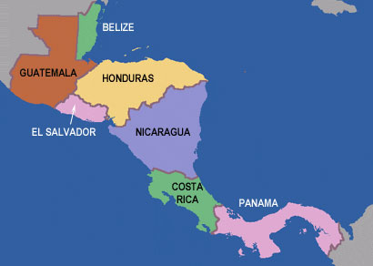 Pura Vida MarkMcCaslincom - Map of costa rica central america